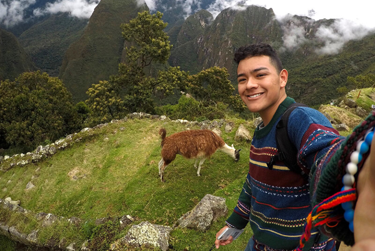 Selfie of a student in Peru