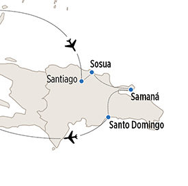 Map of YDR itinerary