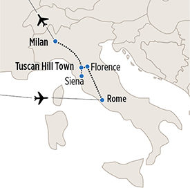 Map of YIT itinerary