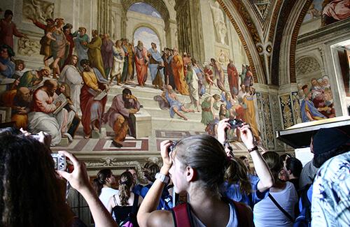 Vatican mural in Rome