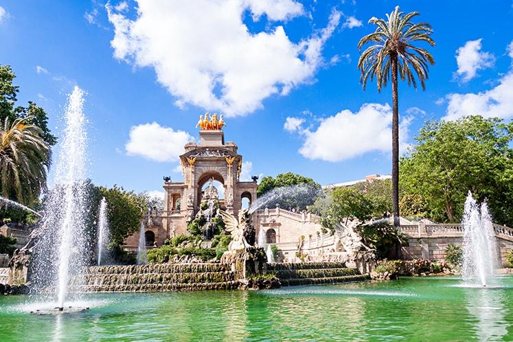 Fountain of Parc de la Ciutadella in Barcelona