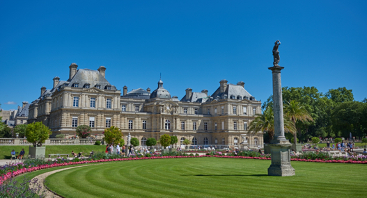Sunny outdoors of the Luxembourg Gardens