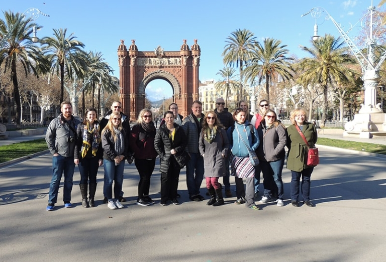 ACIS group leaders pose in Barcelona