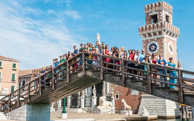 ACIS group posing at the Venetian Arsenal