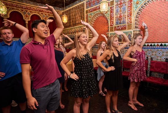Students attending Madrid flamenco lesson