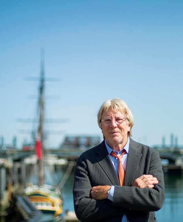 Portrait of Peter Jones at Boston seaport