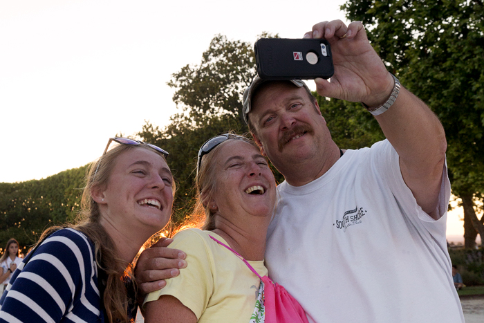 Participant and her parents pose for a selfie
