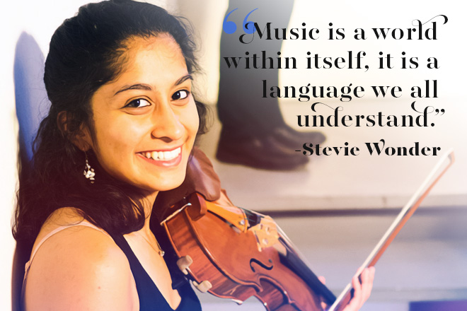Music is a world within itself, it is a language we all understand.