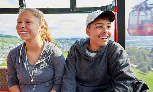 ACIS Students Switzerland Cable Car