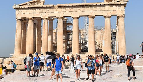 Walking through the Acropolis