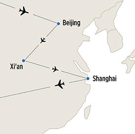 Map of Dynastic China itinerary