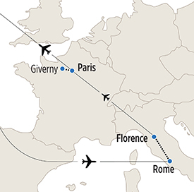 Map of Storia dell'Arte itinerary