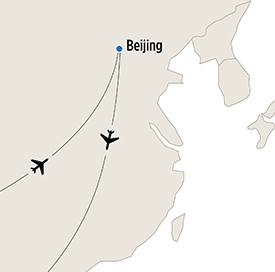 Map of Ancient Beijing itinerary