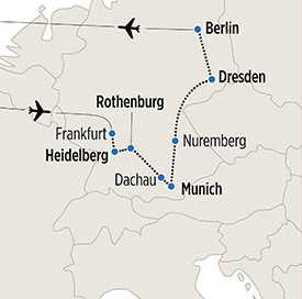 Map of Highlights of Germany itinerary