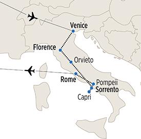 Map of Panorama Italiano itinerary