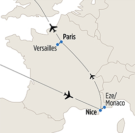 Map of Language Immersion in France itinerary