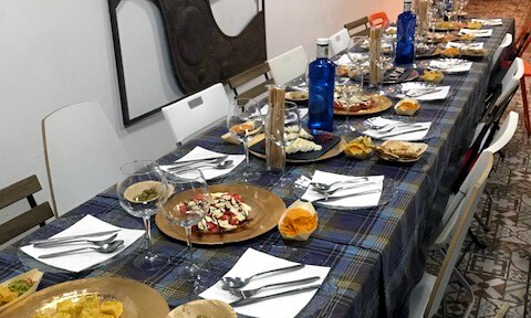 local family dinner in Barcelona