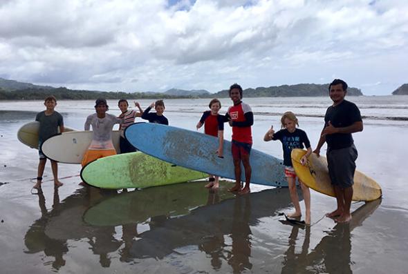 Samara beach surfing lesson