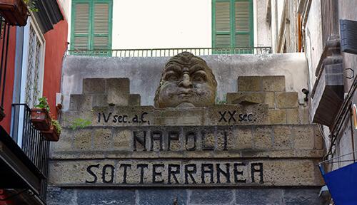 Entrance to underground Naples