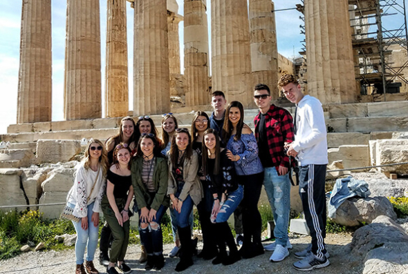 Group in front of the Parthenon