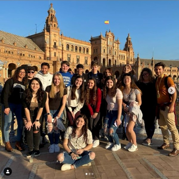 High school group in Seville Spain