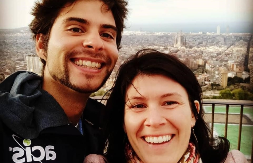 Tour managers Javier and Esther in Barcelona