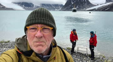 Peter Jones in Svalbard
