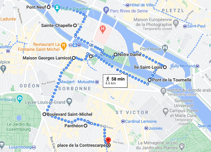Paris Walk 2 - Pont Neuf to Rue Mouffetard