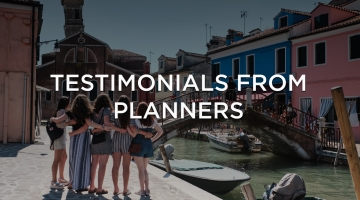 Testimonials from planners