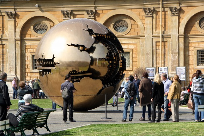 Rome_Vatican_Museums_Globe_with_People_Surrounding_It
