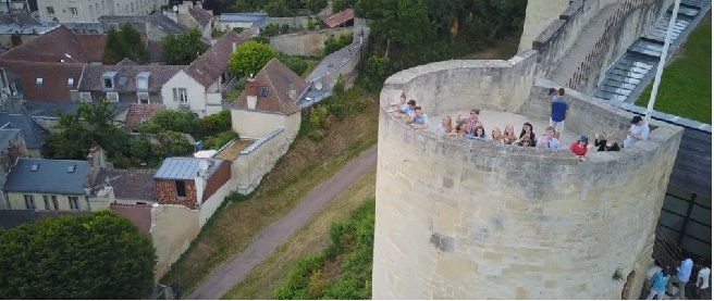 drone photo on student tour in europe
