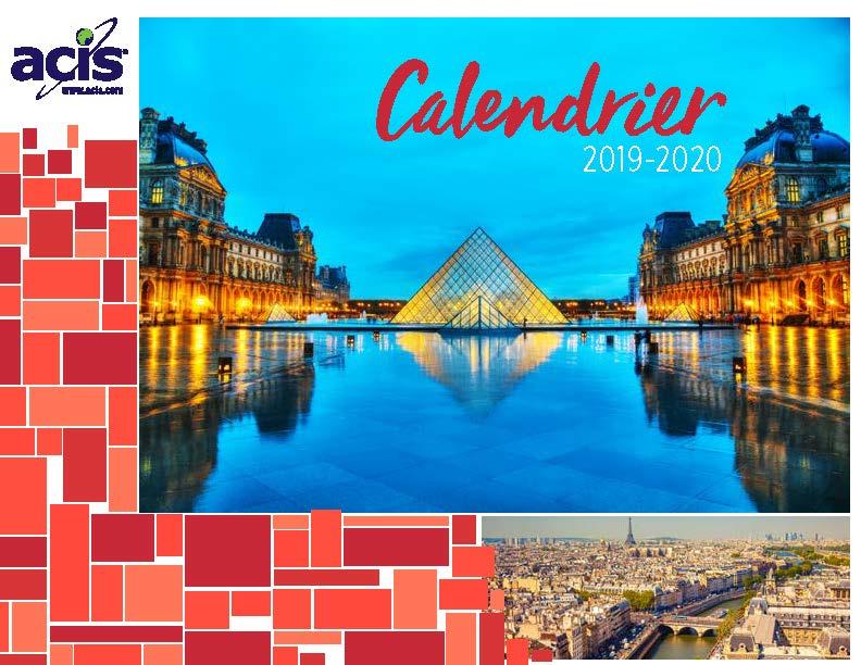Calendrier Pro A 2020 2019.2019 2020 French Language Calendar Acis Educational Tours